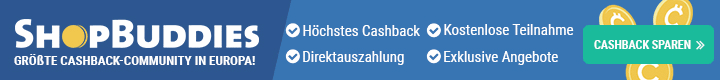 ShopBuddies.de - 100% Cashback